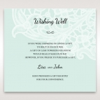 Blue Laser Cut Floral Pocket - Wishing Well / Gift Registry - Wedding Stationery - 90