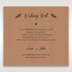 Brown Rustic - Wishing Well / Gift Registry - Wedding Stationery - 24