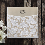 Yellow/Gold Precious Pearl Pocket - Wedding invitation - 68