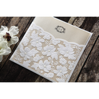 Yellow/Gold Precious Pearl Pocket - Wedding invitation - 69