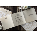 Yellow/Gold Precious Pearl Pocket - Wedding invitation - 71