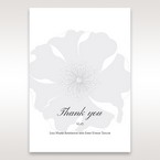 Silver/Gray Twinkling Rose - Thank You Cards - Wedding Stationery - 60