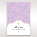 Purple Gold Foiled Floral Laser Cut - Thank You Cards - Wedding Stationery - 73