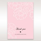 Pink Floral Laser Cut with Embossing - Thank You Cards - Wedding Stationery - 85