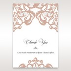 White Elegant Laser Cut Half Pocket with a Bow - Thank You Cards - Wedding Stationery - 12