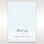 Silver/Gray Floral Couture in Blue & White - Thank You Cards - Wedding Stationery - 94