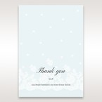 Brown Floral Couture in Blue & White - Thank You Cards - Wedding Stationery - 65