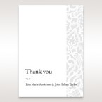 White Elegant Laser Cut - Thank You Cards - Wedding Stationery - 77