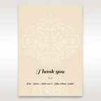 Yellow/Gold Jeweled Laser Cut - Thank You Cards - Wedding Stationery - 92
