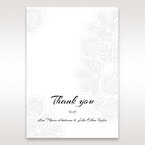 Orange Laser Cut Flower Frame - Thank You Cards - Wedding Stationery - 34