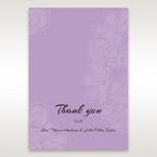 Purple Laser Cut Flower Frame III - Thank You Cards - Wedding Stationery - 59