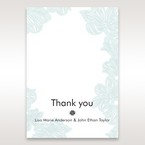 Blue Laser Cut Flower Wrap - Thank You Cards - Wedding Stationery - 60