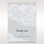 Silver/Gray Gatefold Floral Laser Cut - Thank You Cards - Wedding Stationery - 20