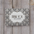 Black Dazzling Silver Foil Stamped - Thank You Cards - Wedding Stationery - 36