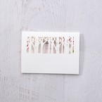 Purple Laser Cut Forest 3D Pocket - Thank You Cards - Wedding Stationery - 93