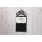 White Jeweled Romance Black Laser Cut - Thank You Cards - Wedding Stationery - 66