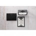 White Jeweled Romance Black Laser Cut - Thank You Cards - Wedding Stationery - 67