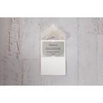 Silver/Gray Jeweled White Lasercut Pocket - Thank You Cards - Wedding Stationery - 28