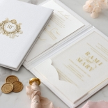 Hardcover Acrylic Pocket - Wedding Invitations - HC-GOLD-CL-1 - 185300