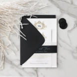 Pre Foiled Quilted Crest - Wedding Invitations - PM-IC330-PLP-BL-02 - 184726