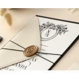 Ebony Foiled Wreath - Wedding Invitations - WP-CU550-B-01 - 184326