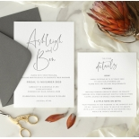 Contemporary Ebony Letterpress - Wedding Invitations - WP-IC55-LP-15 - 184461