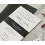 Bold Ebony Letterpress - Wedding Invitations - WP-IC55-LP-04 - 184437