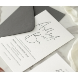 Contemporary Ebony Letterpress - Wedding Invitations - WP-IC55-LP-15 - 184463