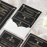 Gatsby Monochrome - Wedding Invitations - MB300-GG-01 - 185332