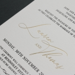 Foiled in Black and Gold - Wedding Invitations - IC330-GG-LPBL-BF-01 - 184876