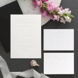White on White Blind Letterpress - Wedding Invitations - WPBD-01 - 183922