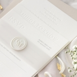 Immaculate Letterpress - Wedding Invitations - IC550-LPBD-02 - 184940