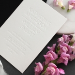 White on White Blind Letterpress - Wedding Invitations - WPBD-01 - 183923