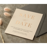 Foil Stamped Save the Date on Blush and White - Wedding Invitations - WP-CR14-SD-RG - 184231