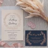 Pre Foiled Blush Floral Wreath - Wedding Invitations - PM-CP02-PFL-B-01 - 184714