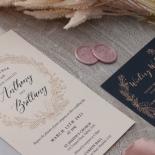 Pre Foiled Blush Floral Wreath - Wedding Invitations - PM-CP02-PFL-B-01 - 184715