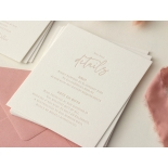 Sweet Letterpressed Romance - Wedding Invitations - WP-IC55-LP-05 - 184256