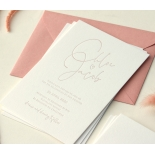Sweet Letterpressed Romance - Wedding Invitations - WP-IC55-LP-05 - 184257