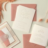 Sweet Letterpressed Romance - Wedding Invitations - WP-IC55-LP-05 - 184259