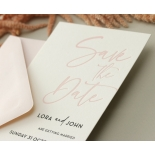 Blush Peach Letterpress - Wedding Invitations - WP-CR14-SD-BL-2 - 184456