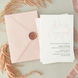 Blushed Engagement - Wedding Invitations - WP-IC55-LP-12 - 184454