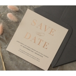 Foil Stamped Save the Date on Blush and White - Wedding Invitations - WP-CR14-SD-RG - 184232