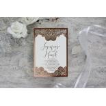 Breathtaking Baroque Foil Laser Cut - Wedding Invitations - FTG120001-KI-GG - 184538