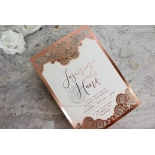 Breathtaking Baroque Foil Laser Cut - Wedding Invitations - FTG120001-KI-GG - 184533