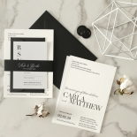 Sophisticated in Grey Letterpress - Wedding Invitations - WP-IC55-LP-01 - 184207