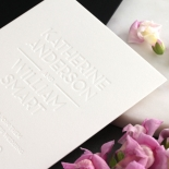 White on White Blind Letterpress - Wedding Invitations - WPBD-01 - 183924