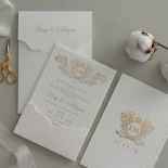 Quilted Half Pocket Royal Elegance - Wedding Invitations - WP309GG - 183823