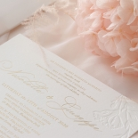 Floral Letterpress with Foil - Wedding Invitations - IC55-GG-LPBD-06 - 184992