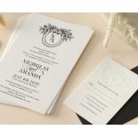 Ebony Foiled Wreath - Wedding Invitations - WP-CU550-B-01 - 184324