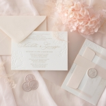 Floral Letterpress with Foil - Wedding Invitations - IC55-GG-LPBD-06 - 184993